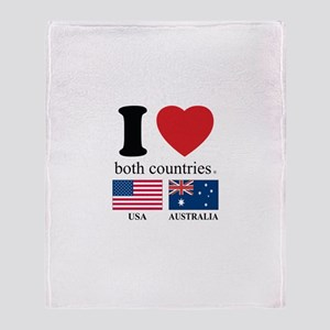 USA-AUSTRALIA Throw Blanket