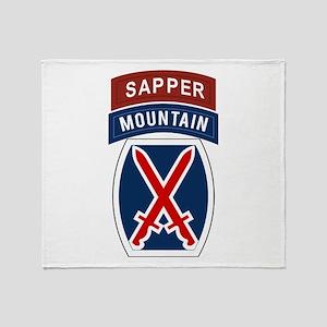 10th Mountain Sapper Throw Blanket