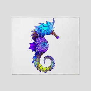 Sigmund Seahorse Throw Blanket