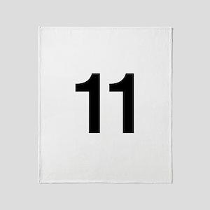 Number 11 Helvetica Throw Blanket