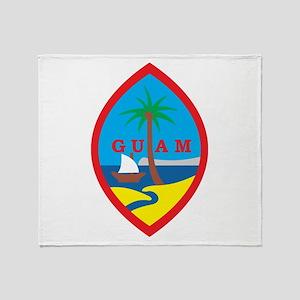 Guam Coat Of Arms Throw Blanket