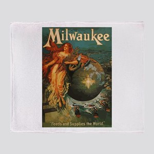 Milwaukee Feeds World Throw Blanket