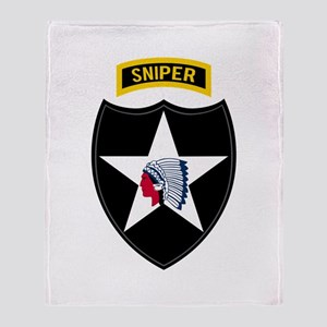 2nd ID Sniper Throw Blanket