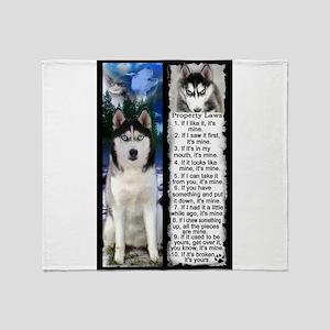 Siberian Husky Dog Laws Rules Throw Blanket