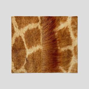 Giraffe Fur Throw Blanket
