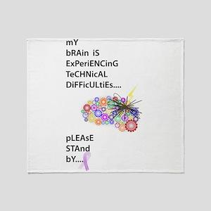 Tech Difficulties Throw Blanket