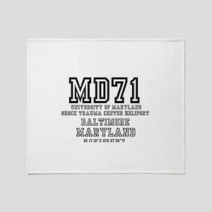UNIVERSITY AIRPORT CODES - MD71 - UN Throw Blanket
