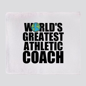 World's Greatest Athletic Coach Throw Blanket