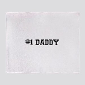 #1 Daddy Throw Blanket