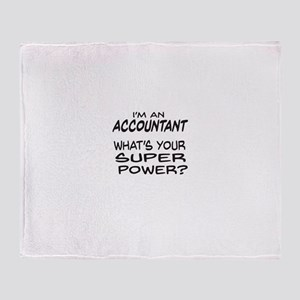 Accountant Super Power Throw Blanket
