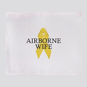 Airborne Wife Ribbon Throw Blanket