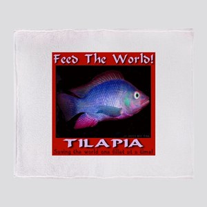Feed The World Tilapia Throw Blanket