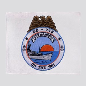 USS HAMNER Throw Blanket