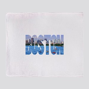 Boston Back Bay Skyline Throw Blanket