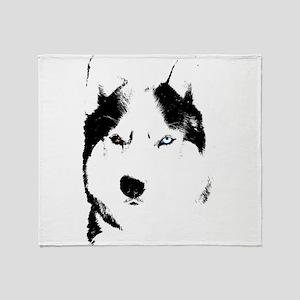 Husky Bi-Eye Husky Dog Throw Blanket