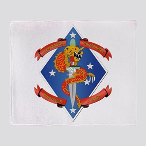 1st Bn - 4th Marines Throw Blanket