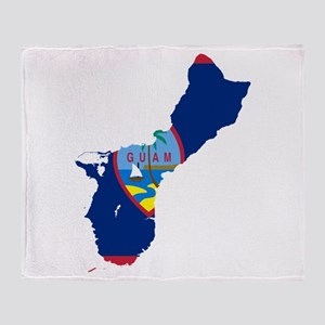 Guam Flag and Map Throw Blanket