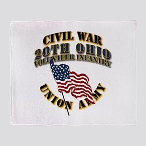 20th Ohio Volunteer Infantry Throw Blanket