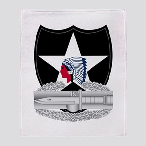 2nd Infantry CAB Throw Blanket