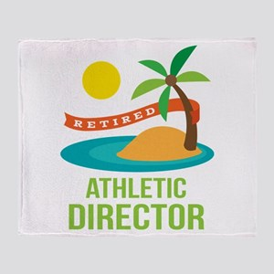 Retired Athletic Director Throw Blanket