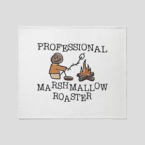 Professional Marshmallow Roaster Throw Blanket