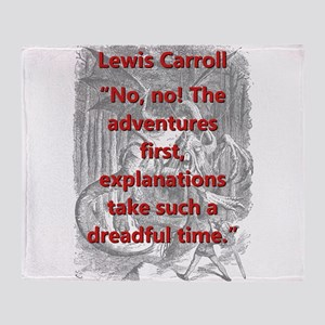 No No The Adventures First - L Carroll Throw Blank