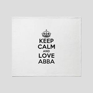 Keep Calm and Love ABBA Throw Blanket