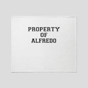 Property of ALFREDO Throw Blanket