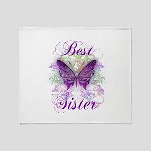 Best Sister Throw Blanket