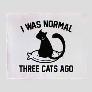 I Was Normal Three Cats Ago Stadium Blanket