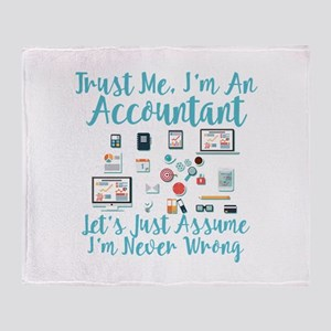 Trust Me I'm An Accountant Throw Blanket