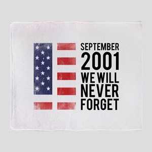 9 11 Remembering Throw Blanket