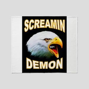 SCREAMIN DEMON Throw Blanket