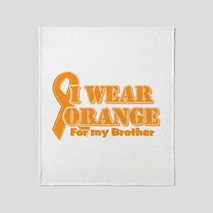 I wear orange brother Throw Blanket