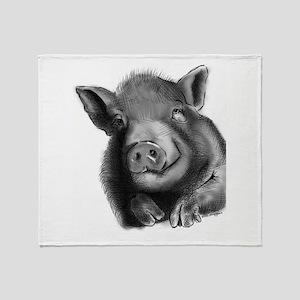 Lucy the wonder pig Throw Blanket