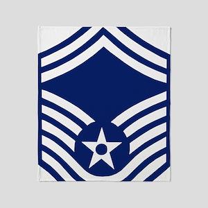 USAFSeniorMasterSergeantForCups Throw Blanket