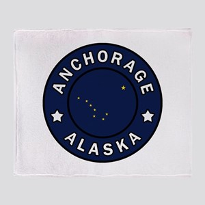 Anchorage Alaska Throw Blanket