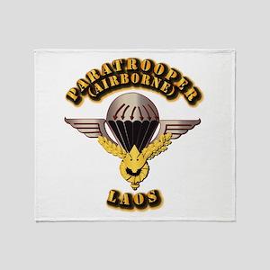 Airborne - Laos Throw Blanket