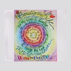Beauty in Life Cancer Support Poem Throw Blanket