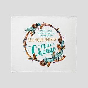 Make a Change Wreath Throw Blanket