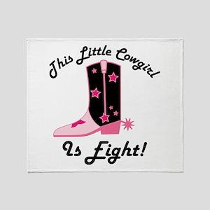 Cowgirl 8th Birthday Throw Blanket