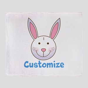 Custom Easter Bunny Throw Blanket