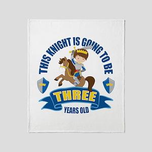 3rd Birthday Knight Throw Blanket