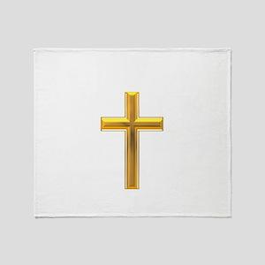 Golden Cross 2 Throw Blanket