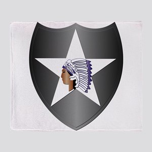 SSI - 2nd Infantry Division Throw Blanket