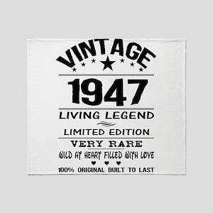 VINTAGE 1947-LIVING LEGEND Throw Blanket