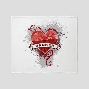 Heart Banker Throw Blanket