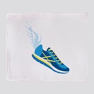 Running Shoe Wing Throw Blanket