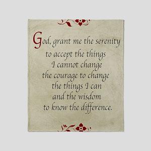 Serenity Prayer-Vintage Throw Blanket