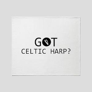 Got Celtic Harp musical designs Throw Blanket